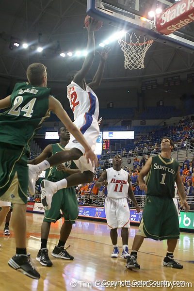 Florida redshirt junior forward/center Vernon Macklin slams in two points during the Gators' 95-46 exhibition game win against the St. Leo Lions on Monday, November 2, 2009 at the Stephen C. O'Connell Center in Gainesville, Fla. / Gator Country photo by Tim Casey