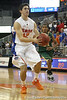 Florida freshman guard Rod Tishman dribbles to the basket during the Gators' 95-46 exhibition game win against the St. Leo Lions on Monday, November 2, 2009 at the Stephen C. O'Connell Center in Gainesville, Fla. / Gator Country photo by Tim Casey