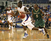 Florida freshman guard Kenny Boynton dribbles the ball during the Gators' 95-46 exhibition game win against the St. Leo Lions on Monday, November 2, 2009 at the Stephen C. O'Connell Center in Gainesville, Fla. / Gator Country photo by Tim Casey