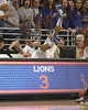 Florida junior forward Chandler Parsons dives for a loose ball during the Gators' 95-46 exhibition game win against the St. Leo Lions on Monday, November 2, 2009 at the Stephen C. O'Connell Center in Gainesville, Fla. / Gator Country photo by Tim Casey