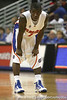 Florida freshman guard Kenny Boynton watches the ball during the Gators' 95-46 exhibition game win against the St. Leo Lions on Monday, November 2, 2009 at the Stephen C. O'Connell Center in Gainesville, Fla. / Gator Country photo by Tim Casey