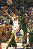 Florida freshman guard Rod Tishman misses a layup during the Gators' 95-46 exhibition game win against the St. Leo Lions on Monday, November 2, 2009 at the Stephen C. O'Connell Center in Gainesville, Fla. / Gator Country photo by Tim Casey