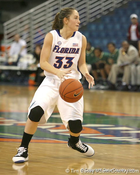 Florida redshirt-sophomore Jordan Jones dribbles during the Gators' 75-39 win against the UAB Blazers on Tuesday, November 24, 2009 at the Stephen C. O'Connell Center in Gainesville, Fla. / photo by Tim Casey