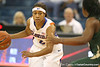 Florida senior guard Lonnika Thompson controls the ball during the Gators' 75-39 win against the UAB Blazers on Tuesday, November 24, 2009 at the Stephen C. O'Connell Center in Gainesville, Fla. / photo by Tim Casey