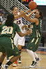 Florida sophomore center Azania Stewart passes the ball during the Gators' 75-39 win against the UAB Blazers on Tuesday, November 24, 2009 at the Stephen C. O'Connell Center in Gainesville, Fla. / photo by Tim Casey
