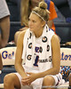 Florida senior guard Steffi Sorensen watches from the bench during the Gators' 75-39 win against the UAB Blazers on Tuesday, November 24, 2009 at the Stephen C. O'Connell Center in Gainesville, Fla. / photo by Tim Casey