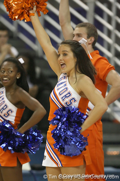 Florida cheerleaders perform during the Gators' 75-39 win against the UAB Blazers on Tuesday, November 24, 2009 at the Stephen C. O'Connell Center in Gainesville, Fla. / photo by Tim Casey