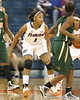 Florida freshman guard Christal Calwell defends the perimeter during the Gators' 75-39 win against the UAB Blazers on Tuesday, November 24, 2009 at the Stephen C. O'Connell Center in Gainesville, Fla. / photo by Tim Casey