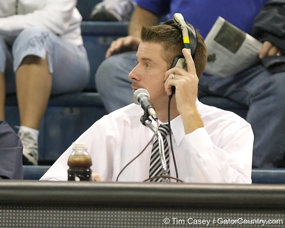 Jeff Cardozo looks on during the Gators' 75-39 win against the UAB Blazers on Tuesday, November 24, 2009 at the Stephen C. O'Connell Center in Gainesville, Fla. / photo by Tim Casey