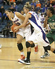 Florida sophomore center Azania Stewart and senior guard Steffi Sorensen grab a rebound during the Gators' 75-39 win against the UAB Blazers on Tuesday, November 24, 2009 at the Stephen C. O'Connell Center in Gainesville, Fla. / photo by Tim Casey