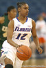 Florida freshman guard Tessah Holt leads a fast break during the Gators' 75-39 win against the UAB Blazers on Tuesday, November 24, 2009 at the Stephen C. O'Connell Center in Gainesville, Fla. / photo by Tim Casey