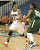 Florida sophomore guard Trumae Lucas dribbles around the arc during the Gators' 75-39 win against the UAB Blazers on Tuesday, November 24, 2009 at the Stephen C. O'Connell Center in Gainesville, Fla. / photo by Tim Casey