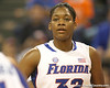 Florida freshman forward Jennifer George looks on during the Gators' 75-39 win against the UAB Blazers on Tuesday, November 24, 2009 at the Stephen C. O'Connell Center in Gainesville, Fla. / photo by Tim Casey