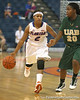 Florida senior guard Lonnika Thompson dribbles upcourt during the Gators' 75-39 win against the UAB Blazers on Tuesday, November 24, 2009 at the Stephen C. O'Connell Center in Gainesville, Fla. / photo by Tim Casey