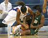 Florida redshirt-sophomore forward Ndidi Madu fights for a loose ball during the Gators' 75-39 win against the UAB Blazers on Tuesday, November 24, 2009 at the Stephen C. O'Connell Center in Gainesville, Fla. / photo by Tim Casey