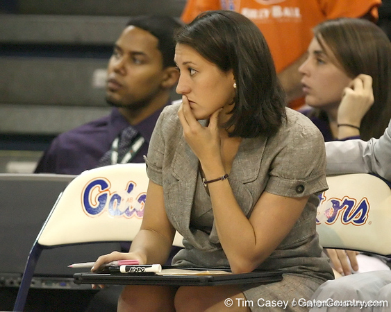 Florida assistant to the head coach Janna Magette looks on during the Gators' 75-39 win against the UAB Blazers on Tuesday, November 24, 2009 at the Stephen C. O'Connell Center in Gainesville, Fla. / photo by Tim Casey