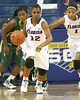 Florida freshman guard Tessah Holt starts a fast break during the Gators' 75-39 win against the UAB Blazers on Tuesday, November 24, 2009 at the Stephen C. O'Connell Center in Gainesville, Fla. / photo by Tim Casey