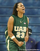 UAB guard Miteka Trueheart reacts after making a shot during the Gators' 75-39 win against the Blazers on Tuesday, November 24, 2009 at the Stephen C. O'Connell Center in Gainesville, Fla. / photo by Tim Casey