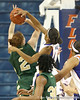 Florida freshman guard Christal Calwell blocks a shot during the Gators' 75-39 win against the UAB Blazers on Tuesday, November 24, 2009 at the Stephen C. O'Connell Center in Gainesville, Fla. / photo by Tim Casey
