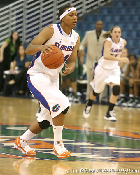 Florida senior forward Sharielle Smith dribbles upcourt during the Gators' 75-39 win against the UAB Blazers on Tuesday, November 24, 2009 at the Stephen C. O'Connell Center in Gainesville, Fla. / photo by Tim Casey