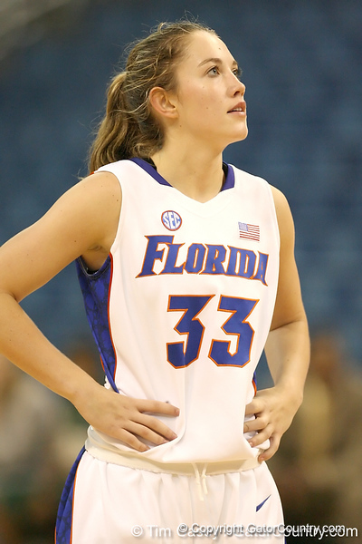 Florida redshirt-sophomore Jordan Jones looks on during the Gators' 75-39 win against the UAB Blazers on Tuesday, November 24, 2009 at the Stephen C. O'Connell Center in Gainesville, Fla. / photo by Tim Casey