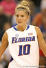 Florida senior guard Steffi Sorensen presses on defense during the Gators' 75-39 win against the UAB Blazers on Tuesday, November 24, 2009 at the Stephen C. O'Connell Center in Gainesville, Fla. / photo by Tim Casey