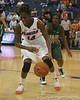 Florida redshirt-sophomore forward Ndidi Madu controls the ball during the Gators' 75-39 win against the UAB Blazers on Tuesday, November 24, 2009 at the Stephen C. O'Connell Center in Gainesville, Fla. / photo by Tim Casey