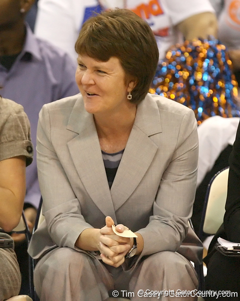 Florida assistant coach Susie Gardner looks on during the Gators' 75-39 win against the UAB Blazers on Tuesday, November 24, 2009 at the Stephen C. O'Connell Center in Gainesville, Fla. / photo by Tim Casey