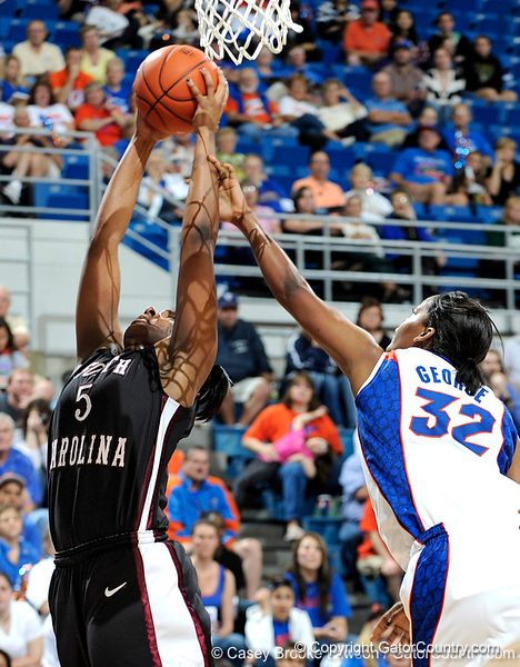 The University of Florida Gators defeat the University of South Carolina Gamecocks 59-56 in Gainesville, Fla. on Sunday, January 24, 2010. / Gator Country photo by Casey Brooke Lawson