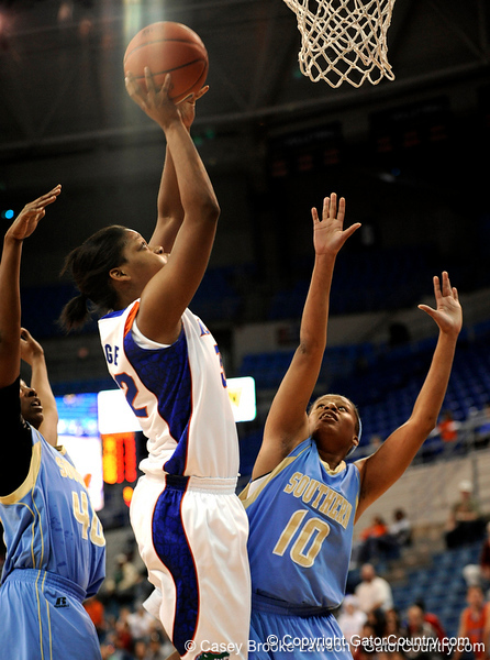 The University of Florida Gators defeat the Southern Jaguars 62-35 in the Steven C. O'Connell Center in Gainesville, Fla. on Friday, December 4, 2009. / Gator Country photo by Casey Brooke Lawson