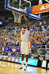 Florida forward Dorian Finney-Smith slams in the bucket in the second half.  Florida Gators vs South Carolina Gamecocks.  Gainesville, FL.  January 8, 2013.  Gator Country photo by David Bowie.