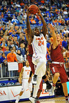 Florida forward Casey Prather jumps and puts in the dunk in the first half.  Florida Gators vs South Carolina Gamecocks.  Gainesville, FL.  January 8, 2013.  Gator Country photo by David Bowie.