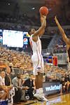 Florida guard Michael Frazier drains another 3-pointer in the second half.  Florida Gators vs Florida State Seminoles.  Gainesville, FL.  November 29, 2013.