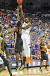 Florida forward Casey Prather (24) puts up the floater.  Florida Gators vs Florida State Seminoles.  Gainesville, FL.  November 29, 2013.