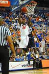 Florida guard Casey Prather dunks the ball in the first half.  Florida Gators vs North Florida Ospreys.  November 8th, 2013.