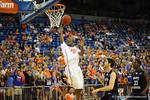 Florida guard DeVon Walker jumps up for the dunk on North Florida.  Florida Gators vs North Florida Ospreys.  November 8th, 2013.
