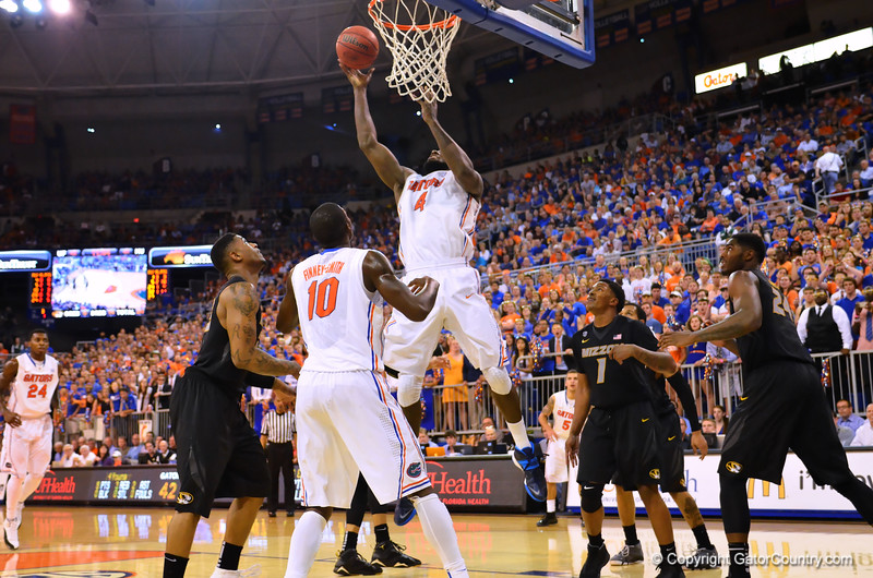 The Gators are to strong for the Missouri Tigers as the Gators win 68-58 at home.