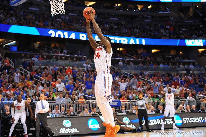 Florida forward Casey Prather leaps up for a dunk following a Pitt turnover in the second half.  Florida Gators vs Pitt Panthers.  March 22nd, 2014.  Gator Country photo by David Bowie.