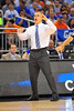 Florida head coach Billy Donovan calls out the play.  Florida Gators vs Pitt Panthers.  March 22nd, 2014.  Gator Country photo by David Bowie.