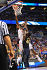 Florida center Patric Young puts in the turnaround jumper in the second half.  Florida Gators vs Pitt Panthers.  March 22nd, 2014.  Gator Country photo by David Bowie.