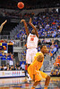 Florida forward Dorian Finney-Smith puts up the 3-point attempt in the second half.  Florida Gators vs Tennessee Volunteers.  January 25, 2013.  Gator Country photo by David Bowie.