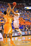 Florida guard Kasey Hill drives and drains the jumper.  Florida Gators vs Tennessee Volunteers.  January 25, 2013.  Gator Country photo by David Bowie.