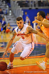 Florida guard Scottie Wilbekin drives toward the basket.  Florida Gators vs Tennessee Volunteers.  January 25, 2013.  Gator Country photo by David Bowie.