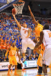 Florida guard Scottie Wilbekin drives the lane and lays in the basket.  Florida Gators vs Tennessee Volunteers.  January 25, 2013.  Gator Country photo by David Bowie.