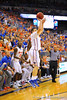 Florida guard Billy Donovan with a 3-point attempt late in the second half.  Florida Gators vs Tennessee Volunteers.  January 25, 2013.  Gator Country photo by David Bowie.