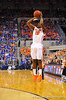 Florida guard Michael Frazier drains a 3-pointer in the first half.  Florida Gators vs Tennessee Volunteers.  January 25, 2013.  Gator Country photo by David Bowie.