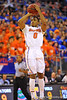 Florida guard Kasey Hill puts up a jump shot in the first half.  Florida Gators vs Tennessee Volunteers.  January 25, 2013.  Gator Country photo by David Bowie.