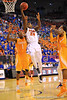 Florida forward Casey Prather drives to the net and lays it in.  Florida Gators vs Tennessee Volunteers.  January 25, 2013.  Gator Country photo by David Bowie.