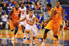 Florida guard Scottie Wilbekin sprints up court in the second half.  Florida Gators vs Tennessee Volunteers.  January 25, 2013.  Gator Country photo by David Bowie.