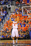Florida guard Scottie Wilbekin celebrates after draining a 3-pointer.  Florida Gators vs Tennessee Volunteers.  January 25, 2013.  Gator Country photo by David Bowie.